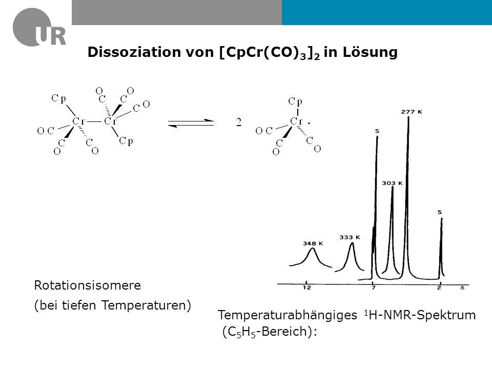 Dissoziation von [CpCr(CO)3]2 in Lösung